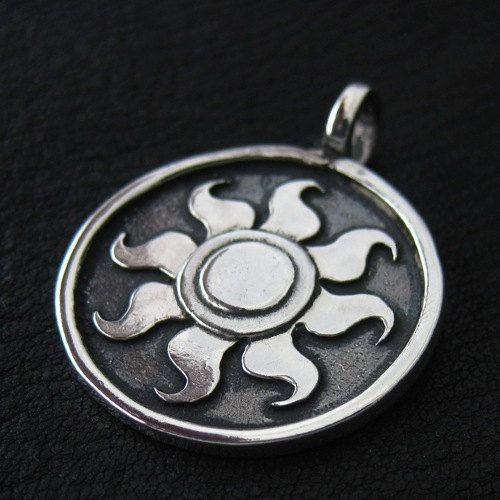 Silver Celestia's Sun pendant by TheSunkenCity on Etsy