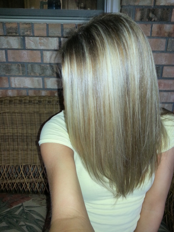 Blonde Highlights Brown Lowlights Contrast Dimension Hair
