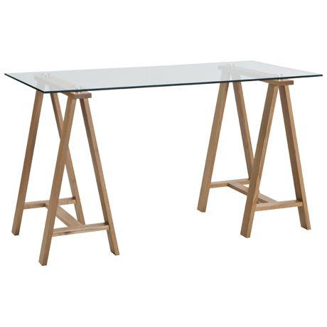 Archibald Desk 130x65cm  Oak & glass Freedom