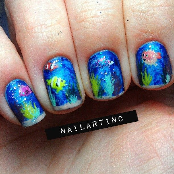 33 best images about Pretty Fish and Ocean Themed Nails on ...