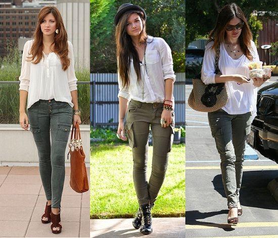 bloggers celebrities pantalon cargo