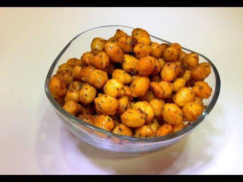 Garbanzos especiados y horneados (un snack sano y rico para picar entre horas) - YouTube
