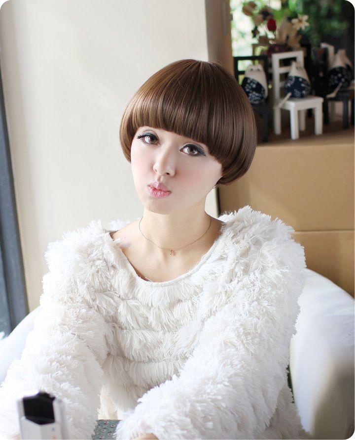 2014 New Sexy Women Fashion Mushroom Haircut Synthetic Hair Short Wigs Free Shipping