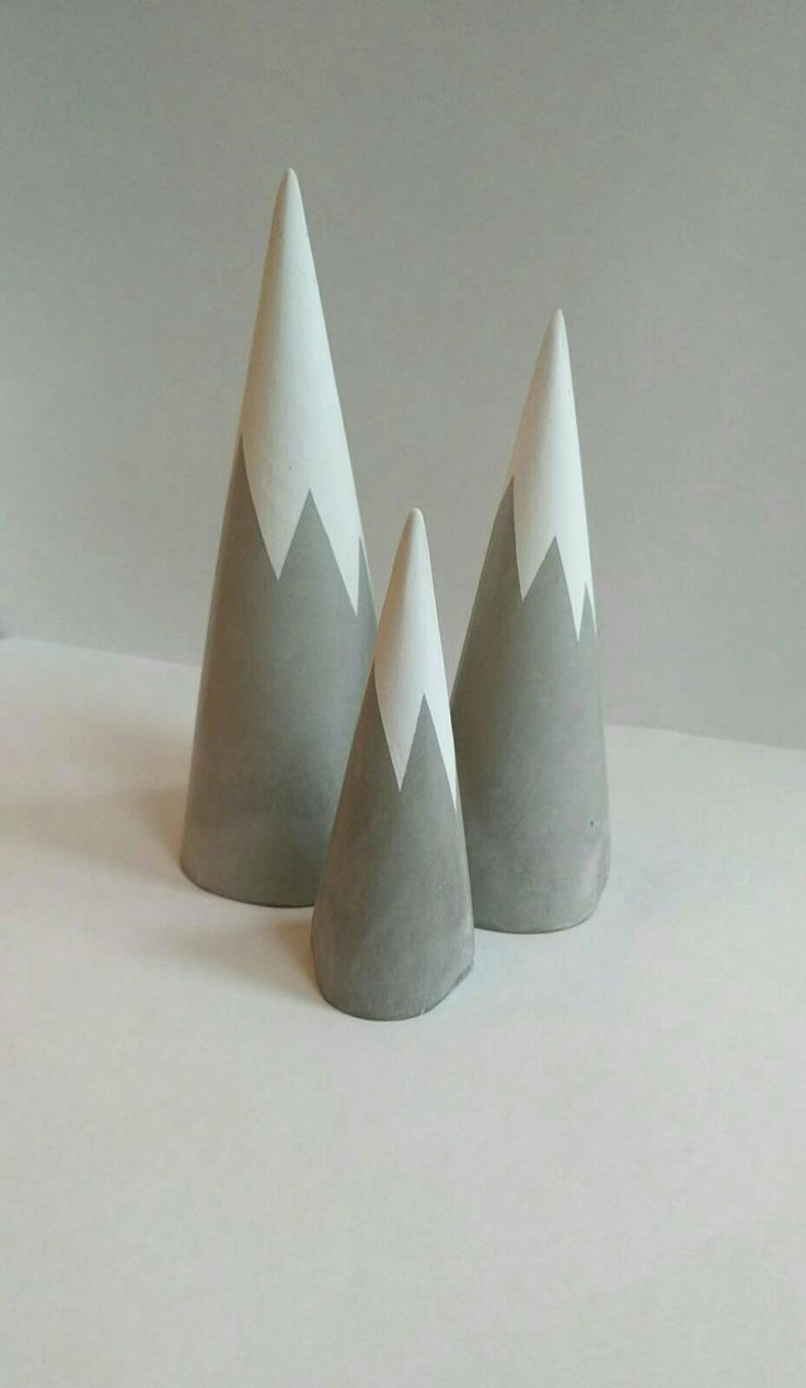 Snow Capped Concrete Trees. Unusual Gifts - Home Accessories - Scandi