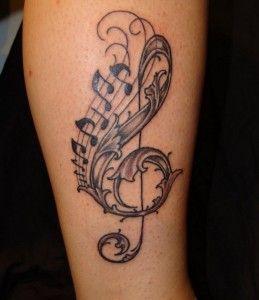25 Εντυπωσιακές ιδέες για #Tattoo μουσικής! #τατουάζ
