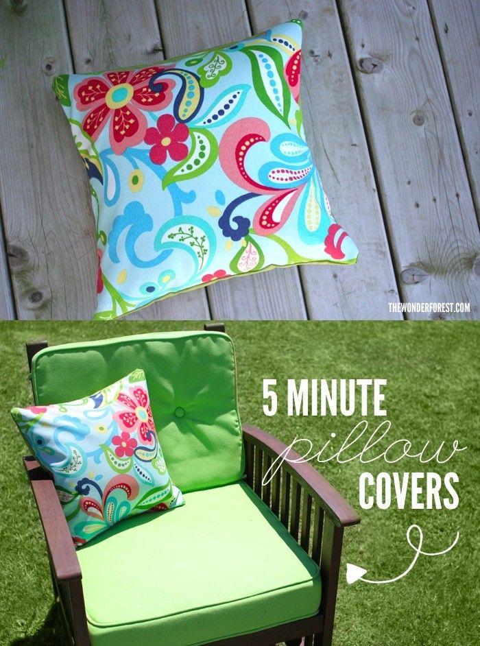 Funda para cojín DIY - thewonderforest.com - DIY Easy Pillow Covers