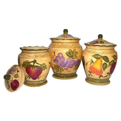 tuscan kitchen canisters tuscan collection deluxe handcrafted 3 kitchen 15237