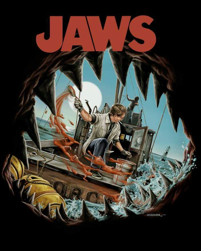 Jaws film poster art
