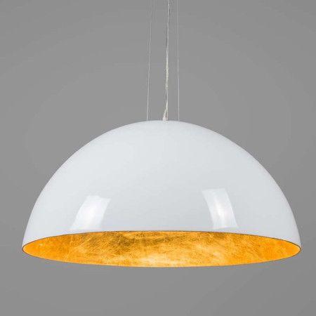 Lampa wisząca Magna Glossy 70cm biało-złota - lampyiswiatlo.pl