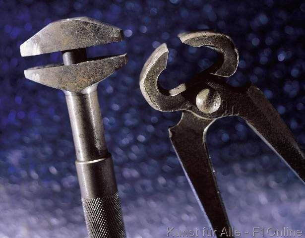 Werkzeug Zange Schraubzwinge Kneifzange Metall