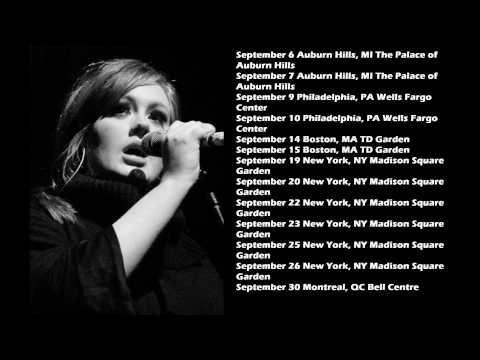 Adele Tour Dates 2016