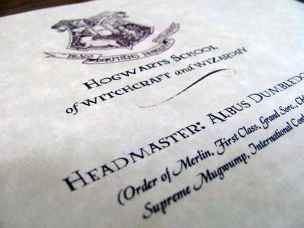 31 best Harry Potter Birthday images on Pinterest Harry potter - hogwarts acceptance letter
