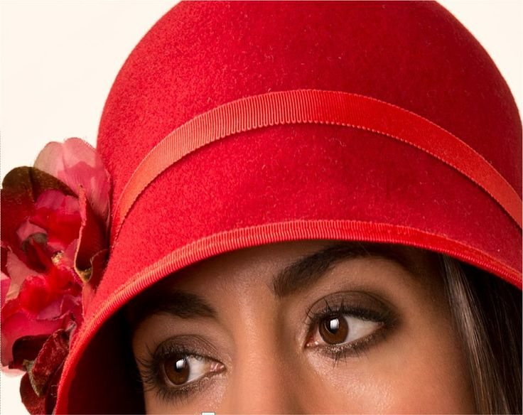 Close up of 1920's style Cloche....