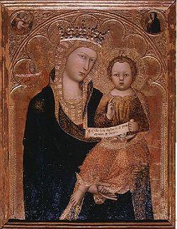 Madonna col Bambino AutoreAndrea Vanni Data1390-1400 circa Tecnicatempera e oro su tavola Dimensioni82 cm × 60 cm  UbicazioneUffizi, Firenze