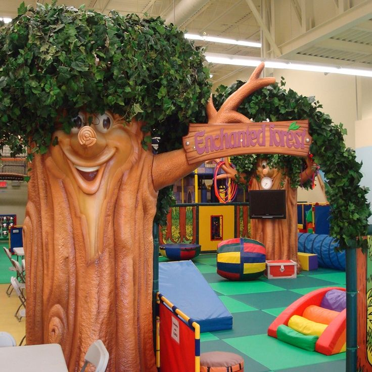 Themed Indoor Playground area for toddlers. Great for a church, child development center,