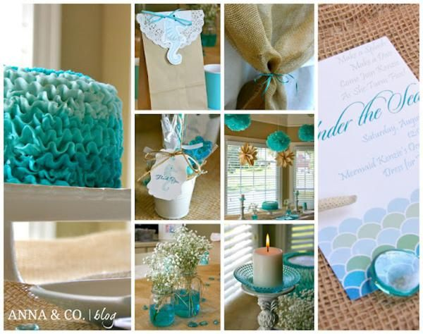 Under The Sea Party | Under the Sea Mermaid Ocean Girl Party Planning Ideas Decorations