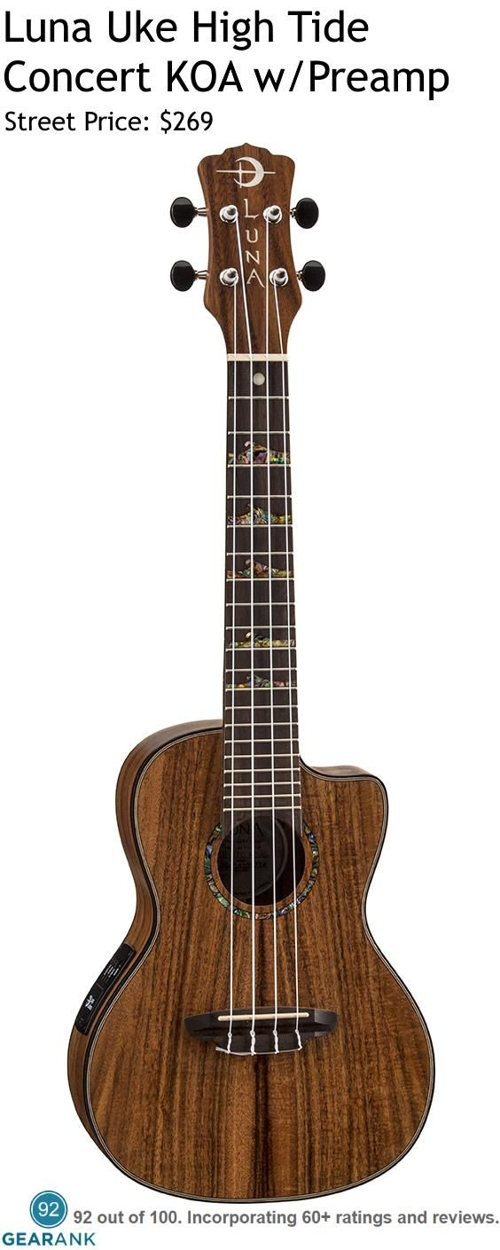 The Luna Guitars High-Tide Koa Concert is one of the highest rated Acoustic-Electric Ukuleles under $300. For a detailed guide to The Best Acoustic-Electric Ukuleles go to https://www.gearank.com/guides/electric-ukulele