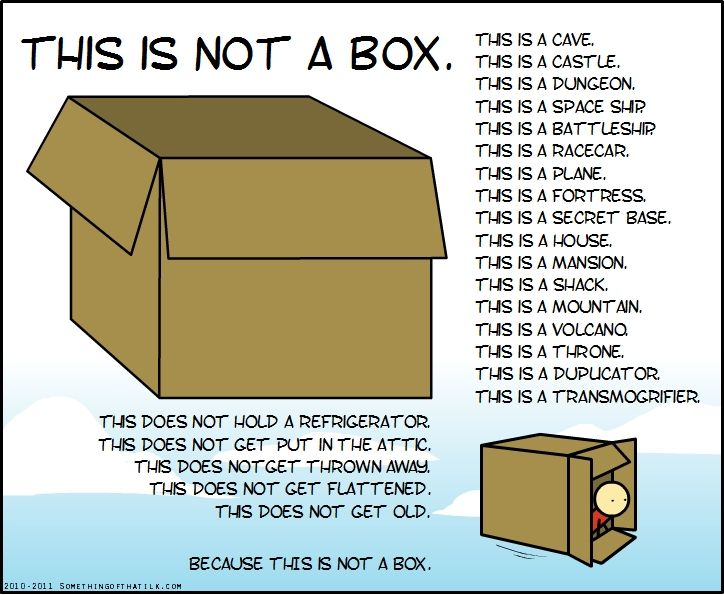 This Is Not A Box. Inspiring And Helpful And Fun All At Once