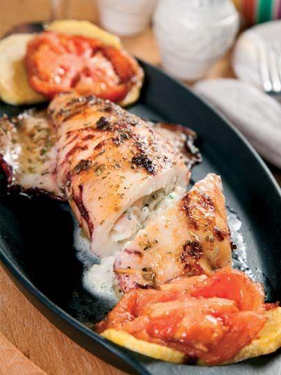Hünkar beğendili kalamar dolması Tarifi - Dünya Mutfağı Yemekleri - Yemek Tarifleri