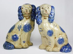 Blue and White Staffordshire Spaniels | Belclaire House: Gift Guide: For the Blue & White Lovers of America