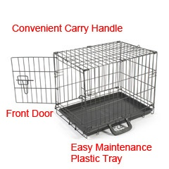 Barkshire Budget Dog Cage Wire Dog Cages for Sale