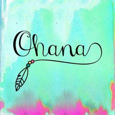 Ohana means family means no one gets left behind or forgotten                                                                                                                                                     Más