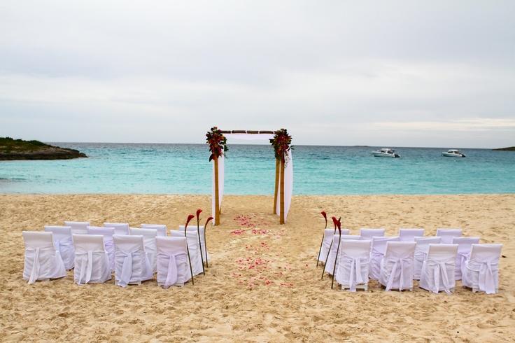 Perfect beach wedding setup!