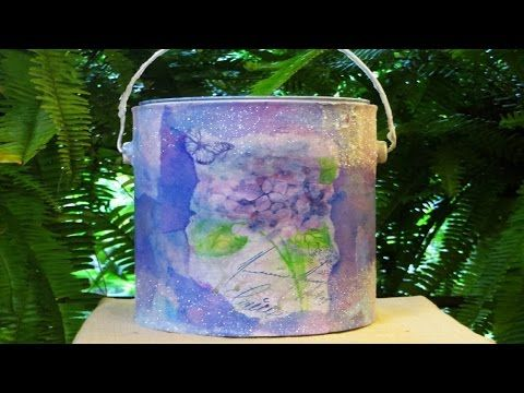 DIY Ucpcyled Paint Can to Toilet Paper holder w/coffee filters - YouTube