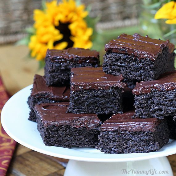 Dark Chocolate Zucchini Brownies  So moist, rich, and chocolaty that no one will guess they have veggies, 100% whole grain, and no eggs. Easy to adapt for vegan, gluten- and dairy-free.