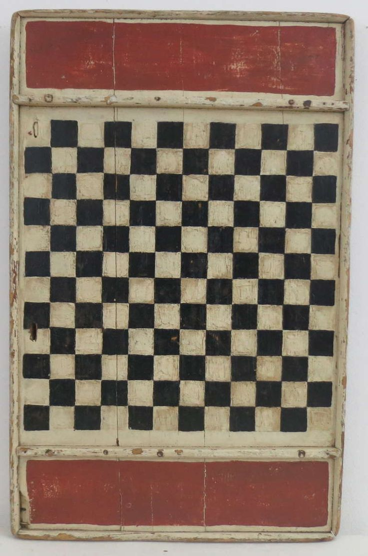 Painted Game Board circa 1900