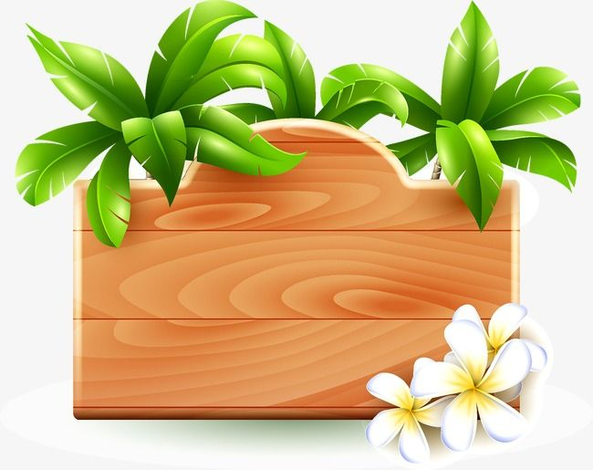 Wood Leaves Indicator Board Png Transparent Clipart Image And Psd File For Free Download Flower Wallpaper Moana Themed Party Colorful Borders Design