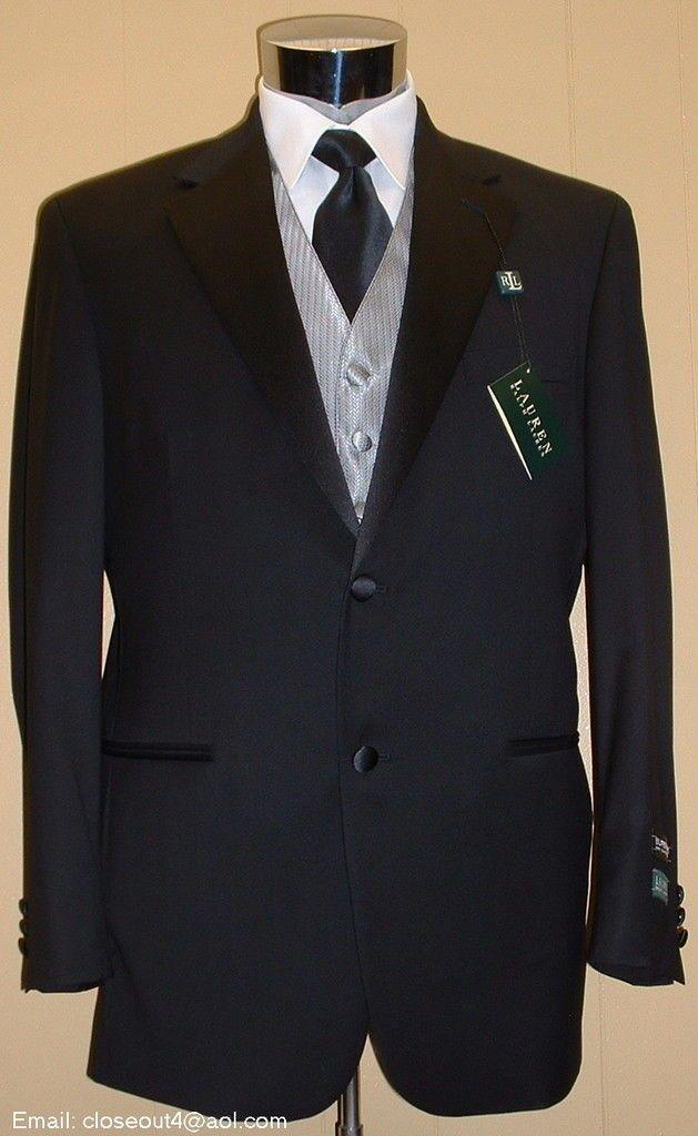 ralph lauren tuxedos | NEW RALPH LAUREN Tuxedo 40 Regular 40R Tux FREE VEST/BO