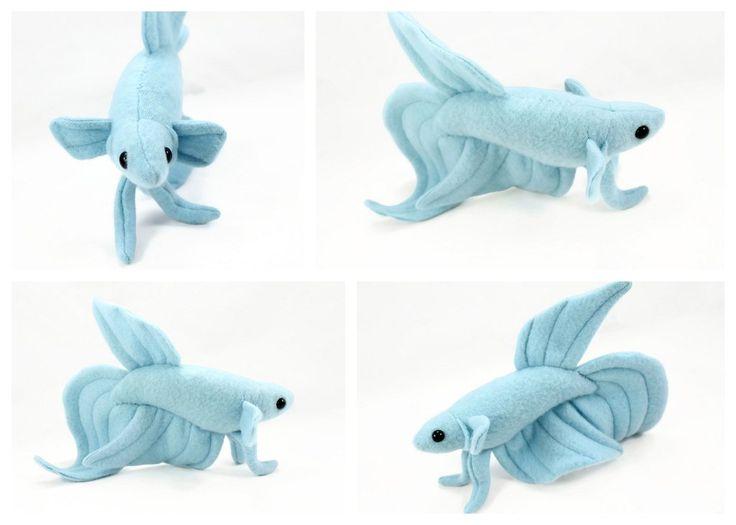 Beautiful blue Beta Fish by BeeZee-Art.