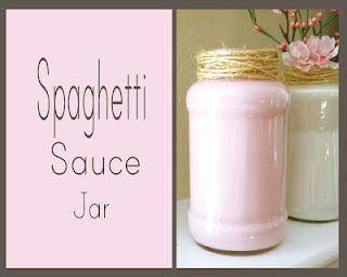 spaghetti jar upcycle oh my gosh I have so Many jars