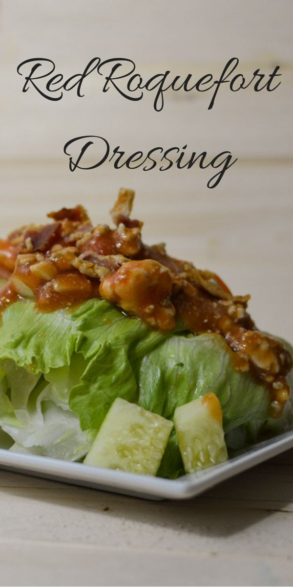 Tangy and sweet salad dressing packed with Roquefort blue cheese. Catalina dressing inspired with blue cheese