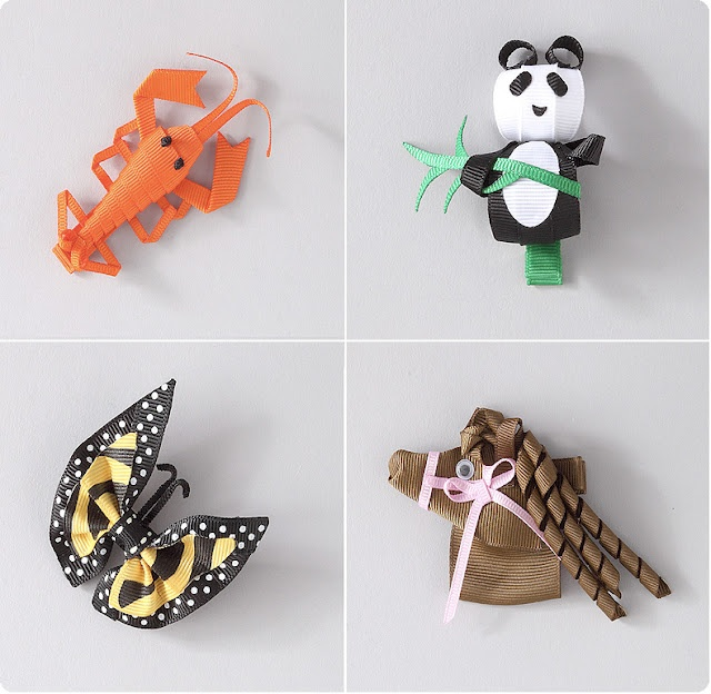 Lobster,Panda,Butterfly and Horse