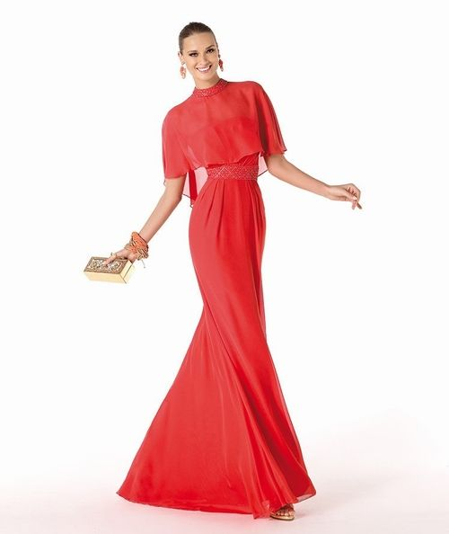 $140 Red Prom Dresses - Floor Length Chiffon Sheath Column Strapless Red Evening Dress at www.promdressbycolor.com #Red Prom Dresses