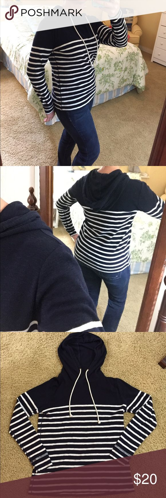 J Crew Nautical Hoodie EUC hoodie. Super soft and comfy! Size small probably best fit on size 8/10. Happy poshing! J. Crew Tops Sweatshirts & Hoodies