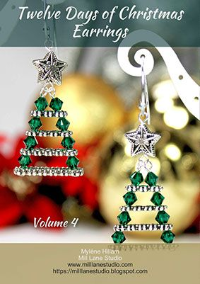 This book is packed with magical, OOAK Christmas earrings for the festive season,