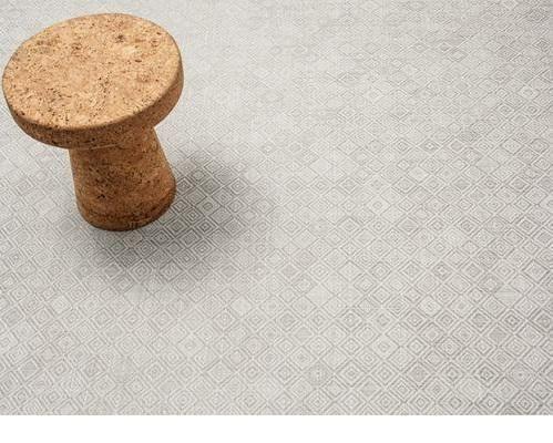 Mosaic Floor Mat   Grey