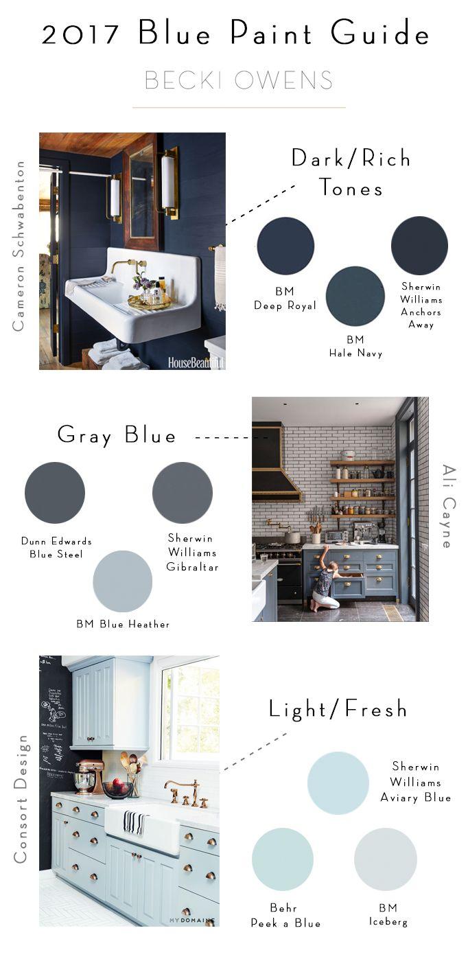 2017 Blue Paint Guide   BECKI OWENS   Bloglovin'