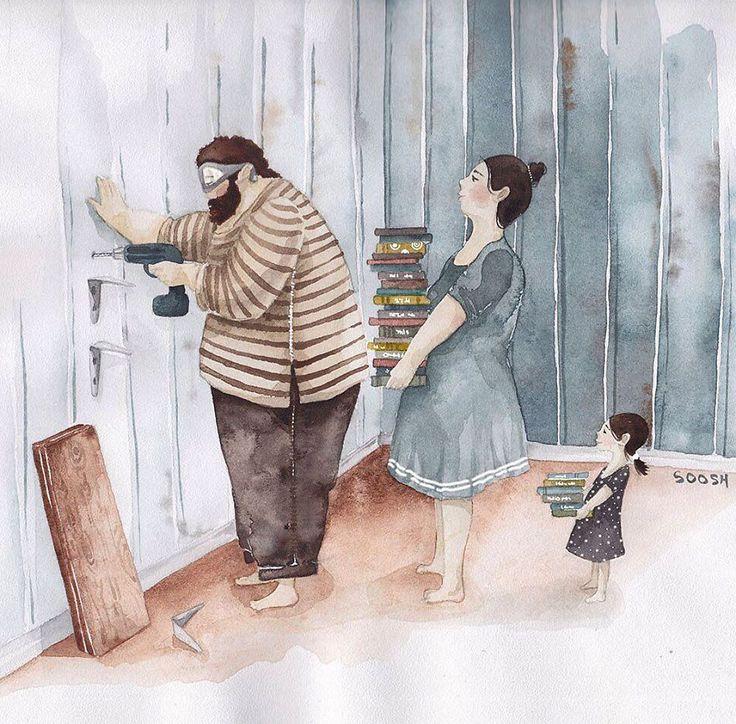 Открытка, папа и дочь открытки