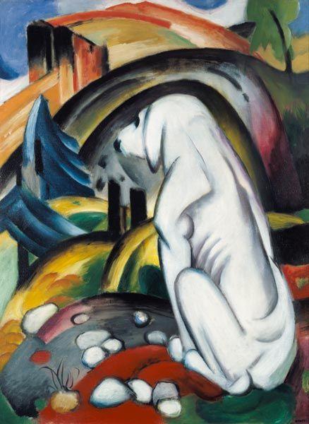 Image: Franz Marc - The white dog