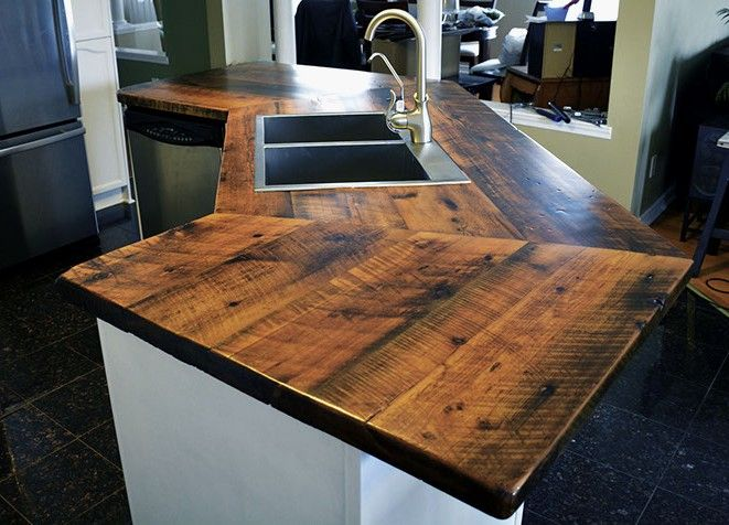 Kitchen Countertop Epoxy Coating Unique Custom Reclaimed Barn Wood