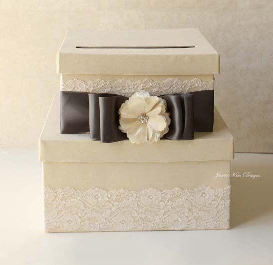 Wedding Card Box Money Holder Reception Box by jamiekimdesigns, $105.00