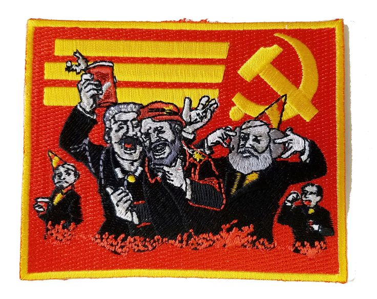 """Communist Party"" Funny Pun Famous Communist Leaders Party - Novelty Iron On Patch Applique HS P - ADA - 0062"
