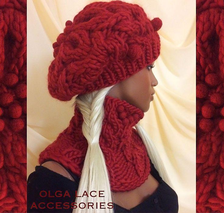 Купить Берет + шарф - манишка из 100% перуанской шерсти WOOL and MANIA