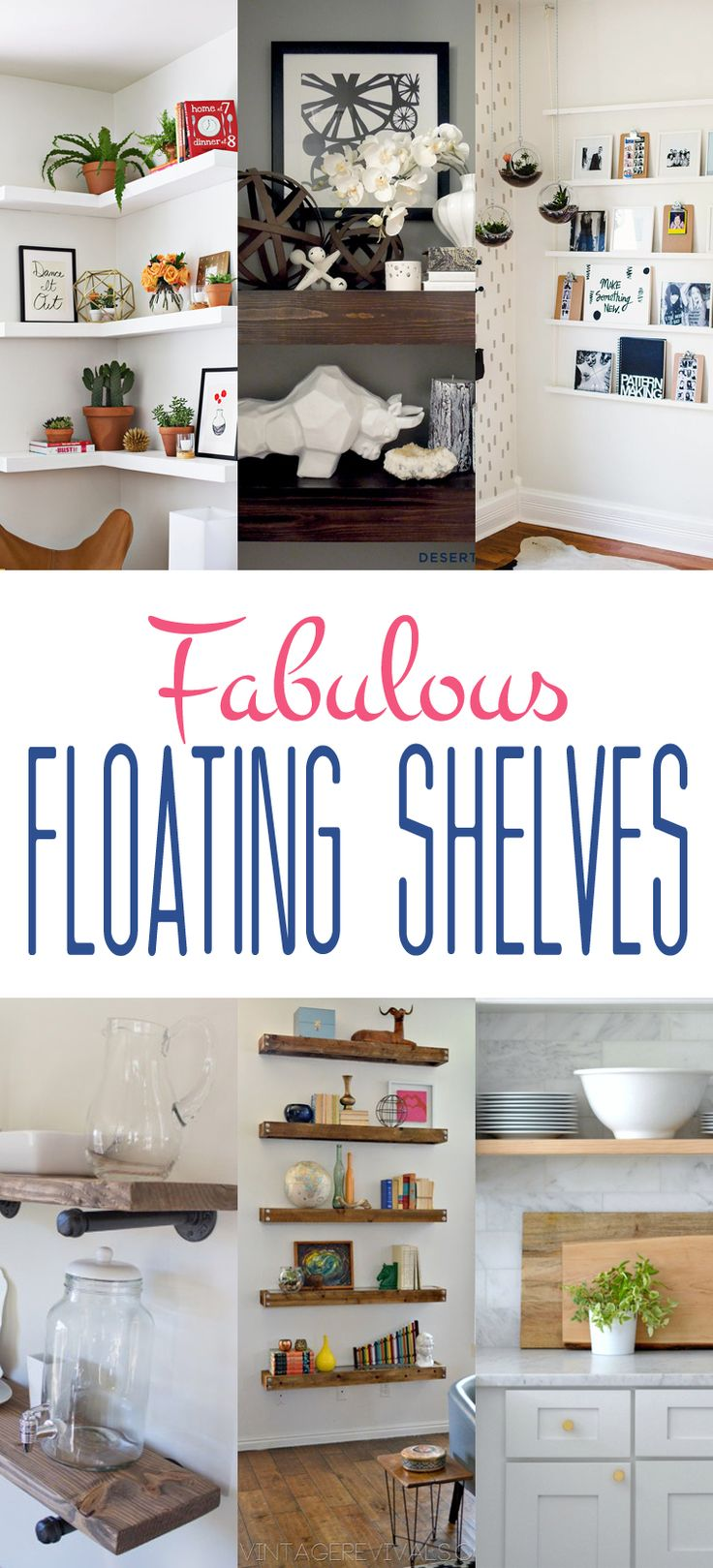 If you love Floating Shelves...then you are going to love these Fabulous Floating Shelves and they all come with a DIY so you can recreate them!!!