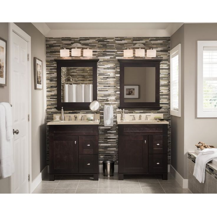 Diamond Fresh Fit Palencia Espresso Contemporary Bathroom