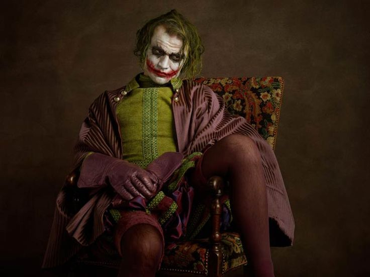 The Joker - Quand la Pop Culture et les super-héros rencontrent la peinture flamande (image)  L'excellent projet Super Flemish du photographe français Sacha Goldberger, qui transporte la Pop Culture et les super-héros dans la peinture flamande et la mode de l'ère élisabéthaine.